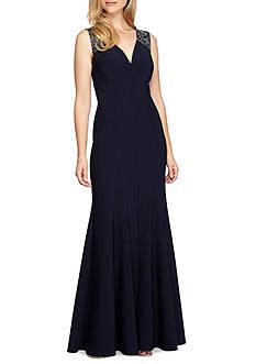 Alex Evenings Bead Embellished Mermaid Gown
