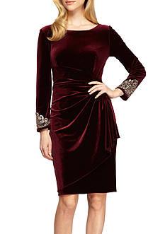 Alex Evenings Bead Embellished Cocktail Dress