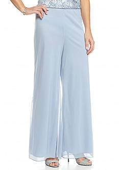 Alex Evenings Mesh Wide Leg Pants