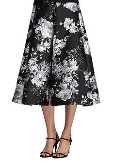 Alex Evenings Long Floral Printed Skirt