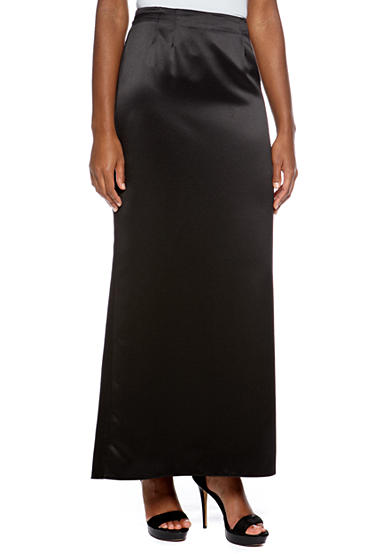 Alex Evenings Long Skirt with Fishtail Back Hem