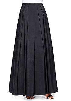 Alex Evenings Long Taffeta Skirt