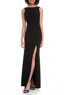 B. Darlin Pearl Back Midi Gown