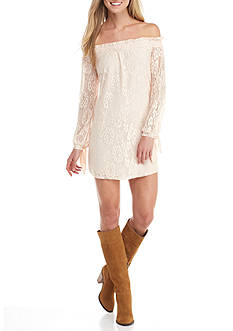 City Triangles Off The Shoulder Lace Dress