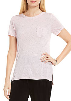 TWO by Vince Camuto Short Sleeve Pocket Tee Shirt