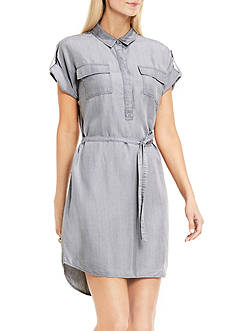 TWO by Vince Camuto Short Sleeve Two Pocket Shirt Dress