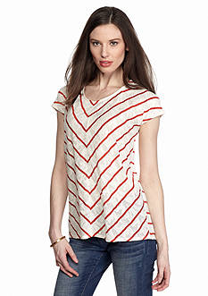 TWO by Vince Camuto Jacquard Stripe Tee