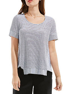 TWO by Vince Camuto Directional Piero Stripe Tee