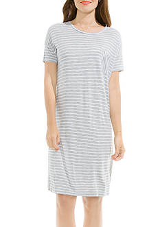 TWO by Vince Camuto Directional Liberty Stripe T-Shirt Dress
