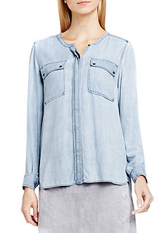 TWO by Vince Camuto Collarless Utility Top