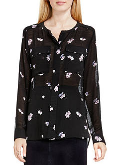 TWO by Vince Camuto Posy Petal Blouse