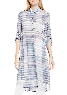 TWO by Vince Camuto Textured Long Tunic