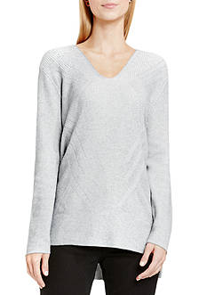 Vince Camuto Traveling Stitch V-Neck Tunic
