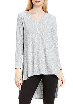 TWO by Vince Camuto Rib Knit High Low Tunic