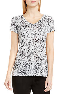 TWO by Vince Camuto Floating Vines Burnout Tee