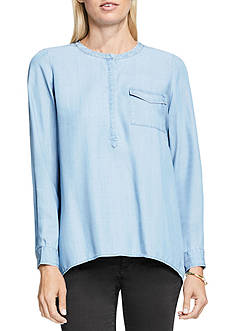 TWO by Vince Camuto Tencel Splitback Henley Shirt