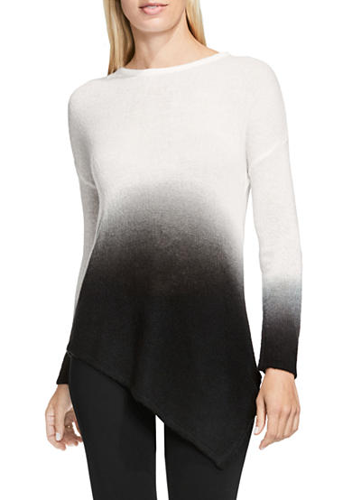 TWO by Vince Camuto Dip Dye Asymmetrical Sweater