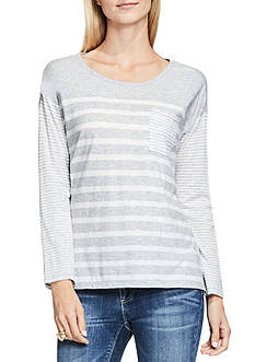 TWO by Vince Camuto Stripe Pocket Tee