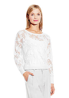 Vince Camuto Palm Burnout Sweater