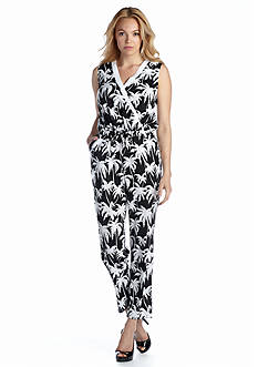 Vince Camuto Palm Tree Print Jumpsuit