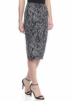 Vince Camuto Fragment Print Pencil Skirt