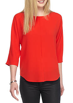 Vince Camuto Front Seam Woven Top