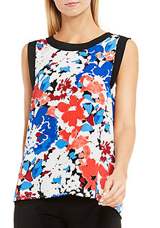 Vince Camuto Nautical Blooms Blouse