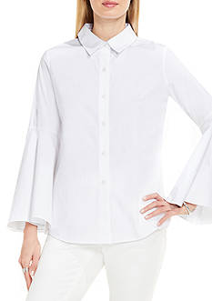 Vince Camuto Bell Sleeve Button Down Collared Shirt