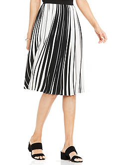 Vince Camuto Linear Accordion Stripe Pleated Skirt