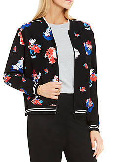 Vince Camuto Traveling Bloom Bomber Jacket