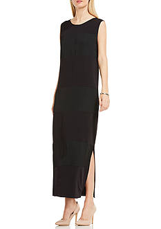 Vince Camuto Sleeveless Maxi Rumple Dress