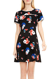 Vince Camuto Travelling Blooms Flare Dress