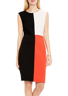 Vince Camuto Color Block Midi Dress