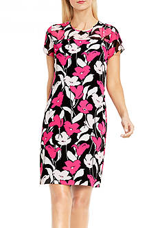 Vince Camuto Flower Wave Shift Dress