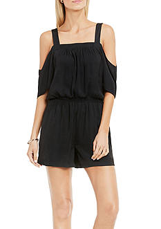 Vince Camuto Short Sleeve Cold Shoulder Romper