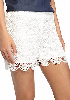 Vince Camuto Circle Crochet Lace Shorts