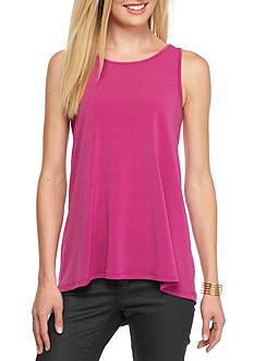 Vince Camuto Crepe Knit Pleat Back Tank