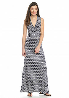 Vince Camuto Diamond Print Maxi Dress