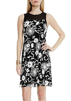 Vince Camuto Chiffon Yoke Dandelion Dress