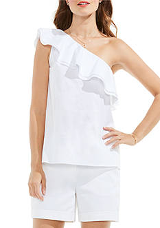 Vince Camuto Sleeveless One Shoulder Blouse