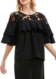 Vince Camuto Baby Doll Floral Blouse