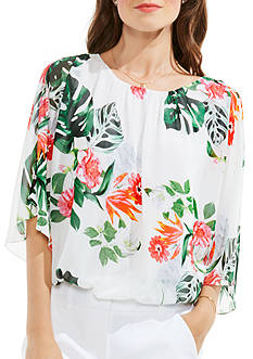Vince Camuto Havana Flare Blouse
