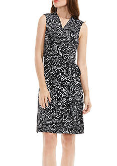 Vince Camuto Villa Graphic Belt Wrap Dress