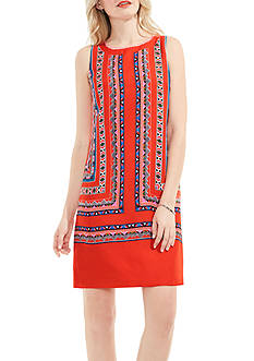 Vince Camuto Havana Geo Print Shift Dress