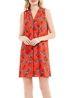 Vince Camuto Tropical Spiritz Inverted Pleat Dress