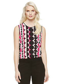 Vince Camuto Sleeveless Retro Dot Blouse