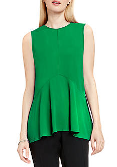 Vince Camuto Ruffle Front Sleeveless Blouse