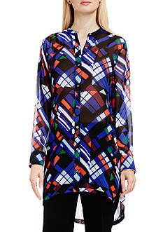 Vince Camuto Graphic Button Front Tunic