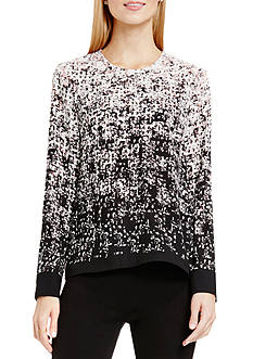 Vince Camuto Shadow Texture Print Blouse