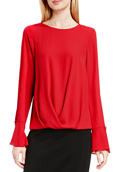 Vince Camuto Flutter Cuff Foldover Blouse